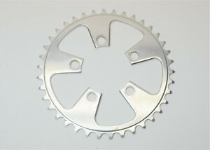POLISHED ALUMINUM 38 TOOTH 7/8 SPEED BICYCLE 5 ARM CHAINRING 74 MM BCD