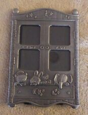 Pewter Baby Picture Photo Frame Abc Nwot