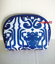 Hautelook Blue & White Paisley Fabric Cosmetic MakeUp Case/Bag - NWOT