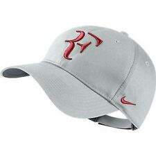 NEW Nike Hybrid RF Roger Federer Hat 371202-065 Dusty Grey / Gym Red