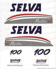 Adesivi motore marino fuoribordo Selva Marlin 100 cv gommone barca stickers