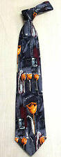 Korea Silk Tie oil painting flower picture High quality
