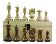 "Leningrade Staunton 4"" Chess Set in Golden Rose & Box Wood with Storage Box"
