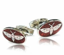 Red Dragonfly Oval Cufflink