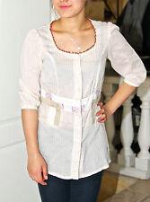 shirt long cotton linen summer AVENTURES DES TOILES size 36 i40 MINT