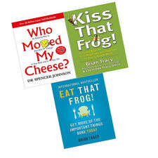 Who Moved My Cheese, Kiss & Eat That Frog 3 Books Collection Set Brand New PB