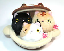 Neko Dango Plush Kawaii Stuffed Dumpling Cats & Japanese Pot Neko-Nabe 4pcs Set