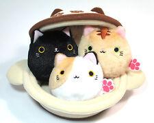 Neko Dango Plush Kawaii Stuffed Dumpling Cats & Japanese Pot Neko-Nabe 4pcs Set