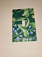 Bramble Laura Ashley Fabric Single Light Switch Plate Cover