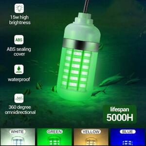108/180 LED Underwater Fishing Light DC12V Boat Squid Prawn Fish Lamp Waterproof