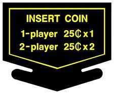 Arcade Nintendo Coin Decals, 2 ea