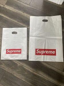 72 Supreme Plastic Poly Tote Bag Red Box Logo Shopping Bag 2 Sizes
