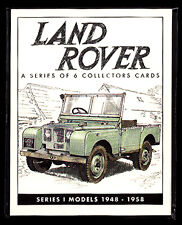 LAND ROVER SERIES 1 1948-58 - Collectors card set - 80 86 107 inch Station Wagon