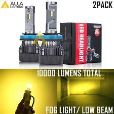 AllaLighting 10000LM LED H11 Headlight Low Beam Bulb /Fog Light Lamp Gold Yellow
