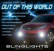 Xenon Halogen Bumper Fog Lamps Lights Kit for 2013-2017 Chevrolet Traverse