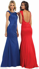 SALE ! NEW SIMPLE PROM EVENING DRESS FORMAL PAGEANT GOWN UNDER $100 & PLUS SIZE