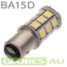 12V LED BA15D LIGHT GLOBE WHITE 27 SMD 5050 Caravan Car Auto Indicator 1157