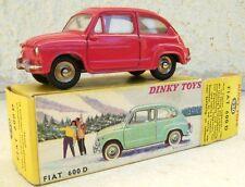 FIAT 600 DINKY TOYS 1.43 e métal  fabrication années 60 avec boite d'origine