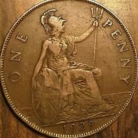 1929 UK GB GREAT BRITAIN ONE PENNY