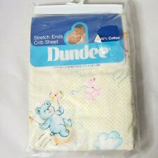 Dundee Baby Toddler Crib Fitted Sheet Animals Balloons Vintage 1986