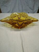 Kemple Glass Wheatonware Napoleon Hat Bowl, Amber, Vintage