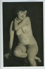 Austrian German Full Nude Girl original old c1920s silver gelatin photo a06