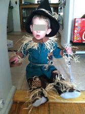 Custom Wizard of Scarecrow Costume boys/girls Age 1-2 Halloween fast ship