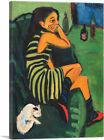 ARTCANVAS Female Artist 1910 Canvas Art Print by Ernst Ludwig Kirchner