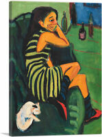 ARTCANVAS Female Artist 1910 Canvas Art Print by Ernst Ludwig Kirchner