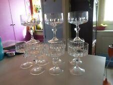 CRISTAL  lot de 10 verre coupe à champagne ancienne en cristal