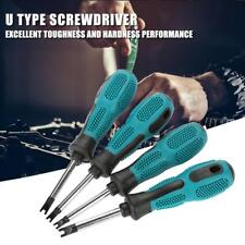 4pcs U Fork Type Screwdriver Magnetic Screw Driver CRV Household Hand Tool