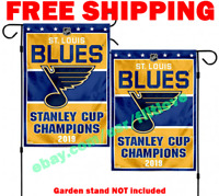 St. Louis Blues 2019 Stanley Cup Champions Garden Flag Yard Banner Double Sided
