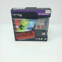 RED/GREEN/BLUE LED USB Gamepad Controller to PC MAC for NES (RetroLink) New