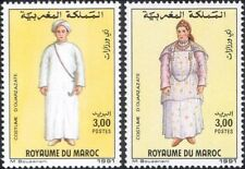 Morocco 1991 Costumes/Clothes/Design/Weaving/Textiles/People 2v set (n32961a)