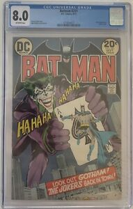 Batman #251 Neal Adams Joker CGC 8.0 1973 Off White Pages DC Comics
