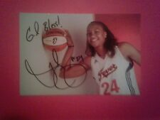 Tamika Catchings autographed 4x6 photo Lady Vols Indiana Fever