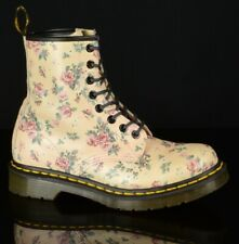 Dr Martens Womens 1460 Boots Size 6M Pink Leather Vintage Rose 8 Eyelet Lace Up