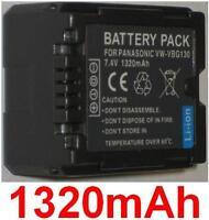 Batteria 1320mAh tipo VW-VBG130 VW-VBG130E1K Per Panasonic HDC-TM350