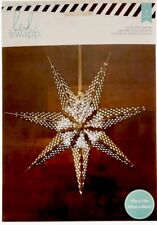 American Crafts Silver Star Paper Lantern 340581 Heidi Swapp Seven Point 17� New
