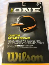 *NEW* THE ONE Custom Baseball/Softball Helmet Decal Yellow  BN25