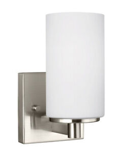 Sea Gull Lighting 4139101-962 Hettinger - 100W One Light Wall Sconce  Brushed