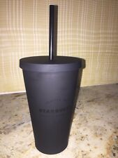 Starbucks 2016 New Matte Black Cold Cup Travel Tumbler,16 oz