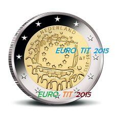 2 EURO PAYS BAS  2015  LOT DE   1  X  PIECE  NEUVE   DRAPEAU    disponible