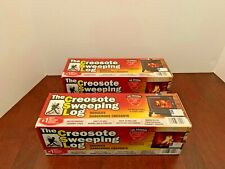 CREOSOTE SWEEPING LOG  Treats & Cleans Build-up in Fireplaces & Stoves QTY OF 2