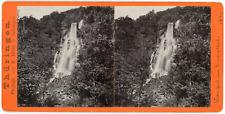 Stereo Allemagne, Deutschland, Thüringen, Wasserfall im Drusenthal, 1894 Vintage