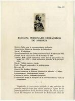"""Pruebas en negro """" Forjadores de América """" 1961 nº 1374/1381 stamps Spain"""