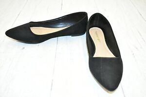 Madden Girl Jenaa Pointed Toe Flats, Women's Size 9M, Black NEW