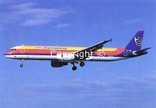 Air Jamaica Airbus A321-211 6Y-JMD Landing at Miami February 1999 Postcard