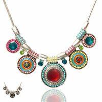 Jewelry Statement Fashion Bib Pendant Choker Crystal Necklace Charm Chunky Chain