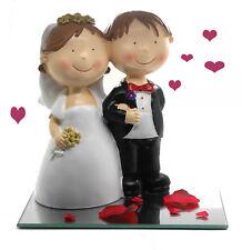 Geldgeschenk zur Hochzeit  große Spardose Brautpaar 20 cm auf Spiegel + Deko